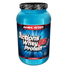 Aminostar Whey Protein Actions 85% - 2000g - Strawberry